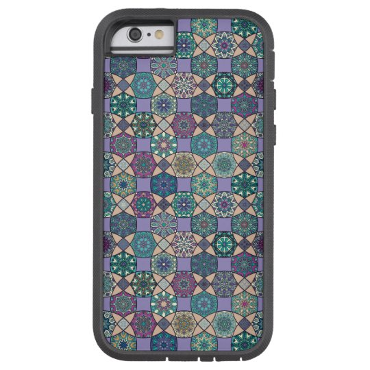Vintage patchwork with floral mandala elements tough xtreme iPhone 6 case