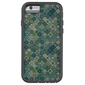 Vintage patchwork with floral mandala elements tough xtreme iPhone 6 case