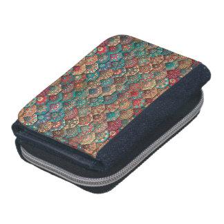 Vintage patchwork with floral mandala elements wallet