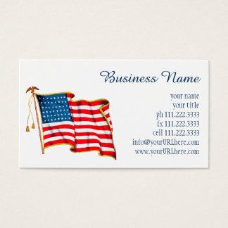 Vintage Patriotic American Flag, Fourth of July