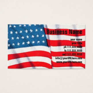 Vintage Patriotic American Flag, Fourth of July Business Card