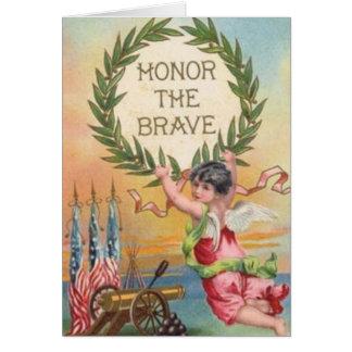 Vintage Patriotic Angel Note Card