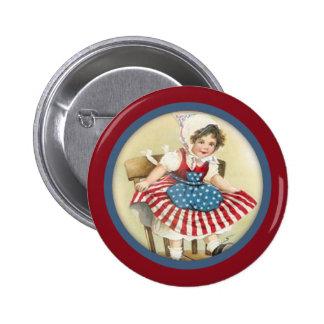 Vintage Patriotic Child Button