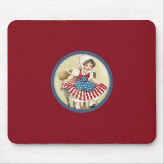 Vintage Patriotic Child Mousepad