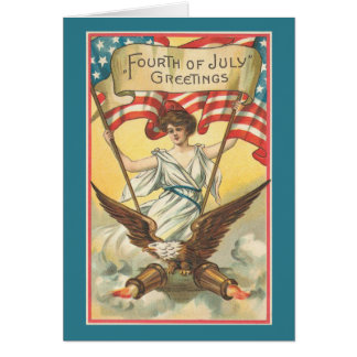Vintage_Patriotic_Liberty_Card Greeting Card