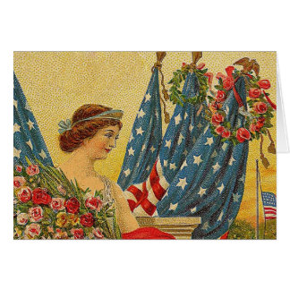 Vintage Patriotic Memorial Day Card