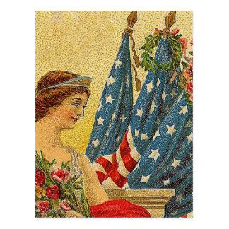 Vintage Patriotic Memorial Day Postcard