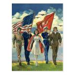 Vintage Patriotic, Military Personnel Postcards