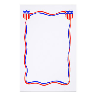 Vintage Patriotic Red, White and Blue Stationery
