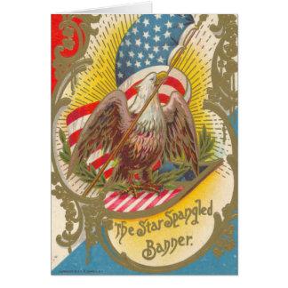 Vintage_Patriotic_Star Spangled Banner_Card Greeting Card