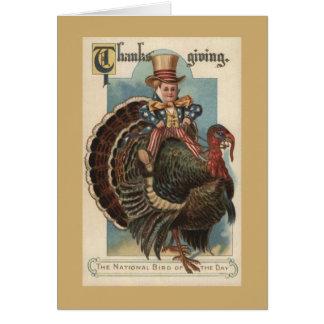Vintage Patriotic Thanksgiving Greeting Card