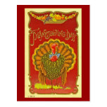 Vintage Patriotic Thanksgiving Turkey Postcard