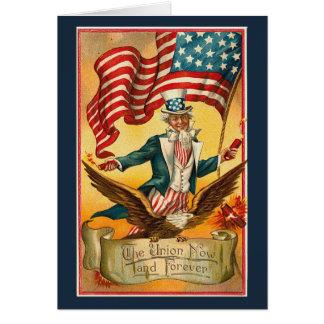 Vintage_Patriotic_Uncle Sam_Card Greeting Card