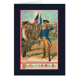 Vintage_Patriotic_Washington_Card Greeting Card