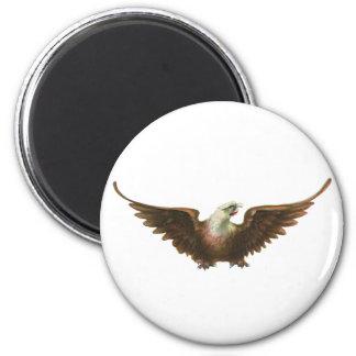 Vintage Patriotism American Bald Eagle Bird Flying 6 Cm Round Magnet