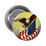 Vintage Patriotism, Patriotic Eagle American Flag Pins