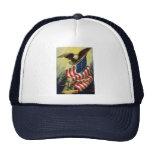 Vintage Patriotism, Patriotic Eagle American Flag Cap
