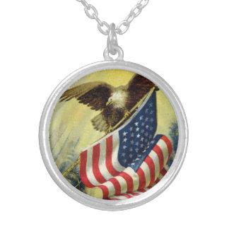 Vintage Patriotism, Patriotic Eagle American Flag Pendants