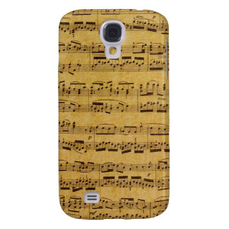 Vintage Pattern Antique Sheet Music Case Samsung Galaxy S4 Case