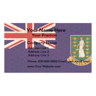 Vintage Pattern B.V. Islander Flag Business Cards