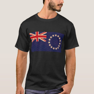 Vintage Pattern Cook Island Flag T-Shirt