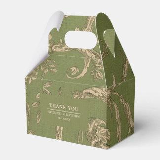 Vintage Pattern Design Custom Wedding Favor Boxes