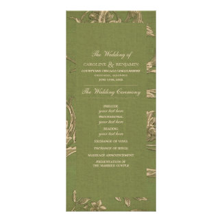 Vintage Pattern design Custom Wedding Programs Rack Card
