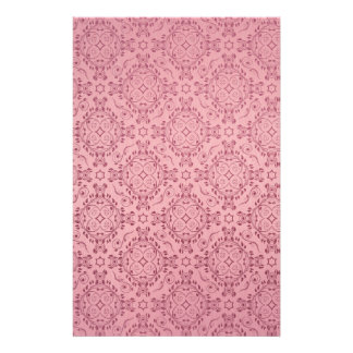 Vintage pattern floral diamonds Soft Pink Stationery Paper
