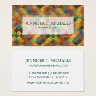 Vintage pattern. Geometric. Business Card