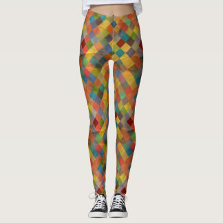 Vintage pattern. Geometric. Leggings