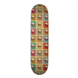 Vintage pattern made of cupcakes skateboard decks