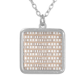 Vintage pattern silver plated necklace