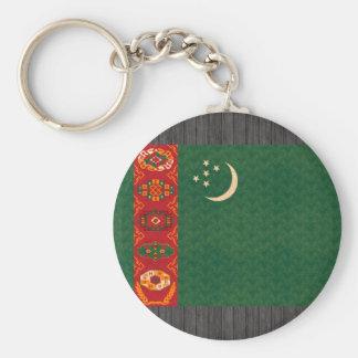 Vintage Pattern Turkmen Flag Key Chain
