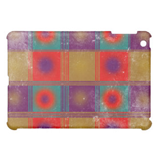 Vintage Pattern With Circles and Squares iPad Mini Cases