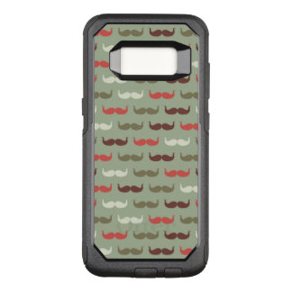 Vintage pattern with mustache OtterBox commuter samsung galaxy s8 case