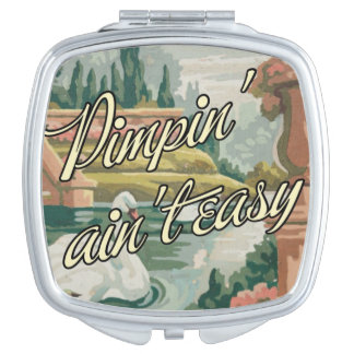 "Vintage PBN Swans Mirror ""Pimpin' Ain't Easy"" Travel Mirrors"