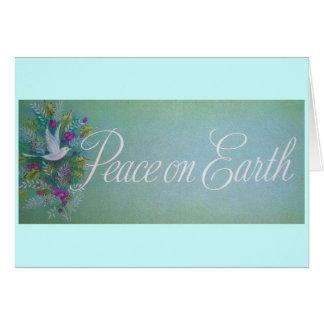 Vintage Peace on Earth Greeting Card