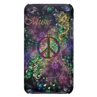 Vintage Peace Sign Music Case for iPod Barely There iPod Case