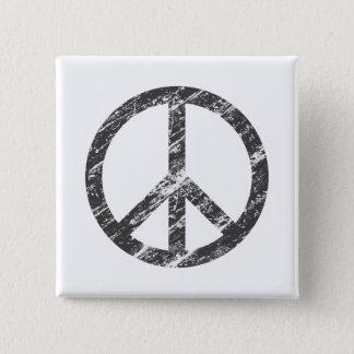 vintage peace symbol 15 cm square badge