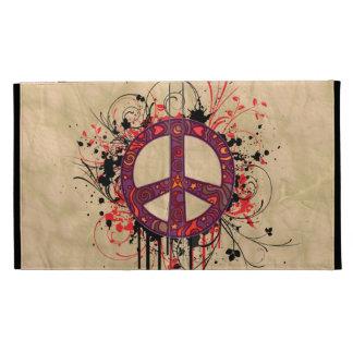 VINTAGE PEACE SYMBOL iPad CASE