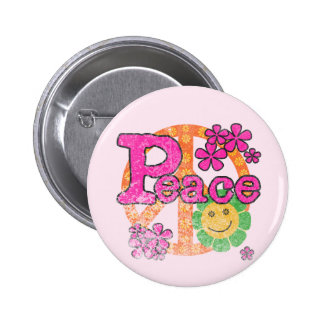 Vintage Peace T-shirts and Gifts Pinback Buttons