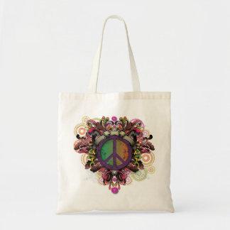 Vintage Peace Tote Budget Tote Bag