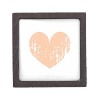 Vintage peach color wedding heart premium trinket boxes