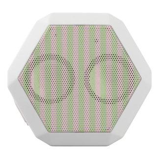 Vintage Peach Green Stripes Pattern White Boombot Rex Bluetooth Speaker