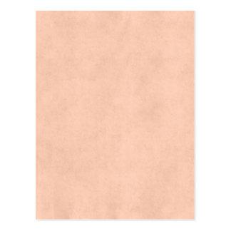 Vintage Peach Parchment Antique Paper Template Postcard