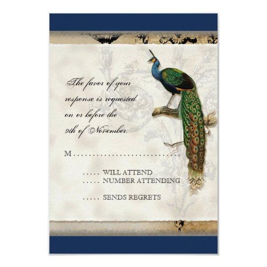 Vintage Peacock 6 - Wedding Invitation