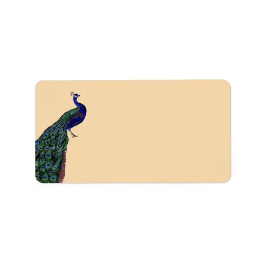 Vintage Peacock Address Labels