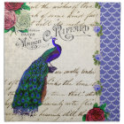 Vintage Peacock Collage Napkin