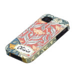 Vintage Peacock Dragonflies and Lilypads iPhone 4 Cases