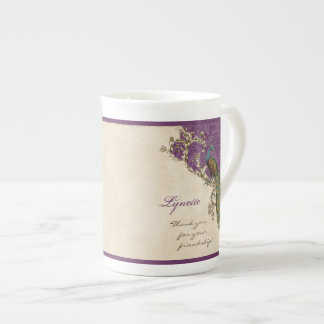 Vintage Peacock & Etchings Hindu Wedding Gift Tea Cup